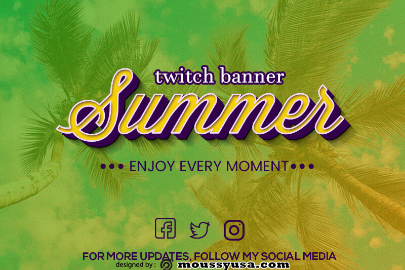 twitch banner psd template free