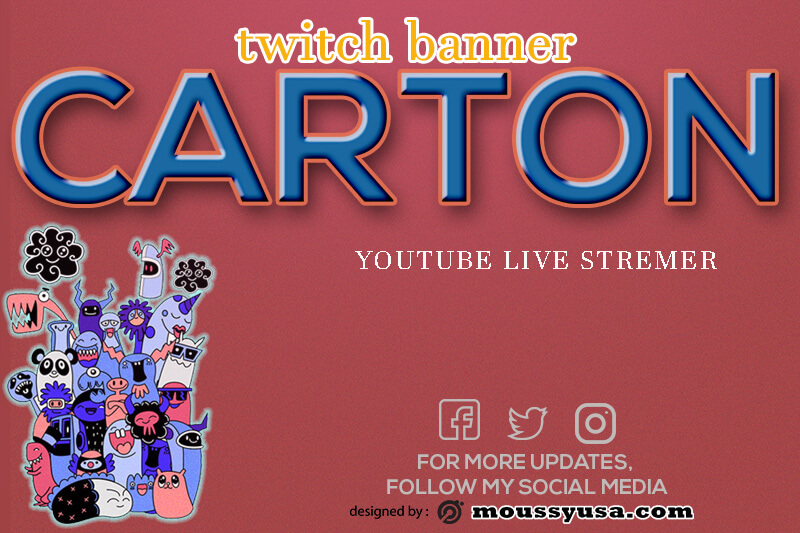 twitch banner template for photoshop