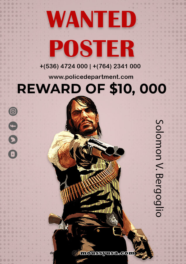 wanted poster in photoshop free download