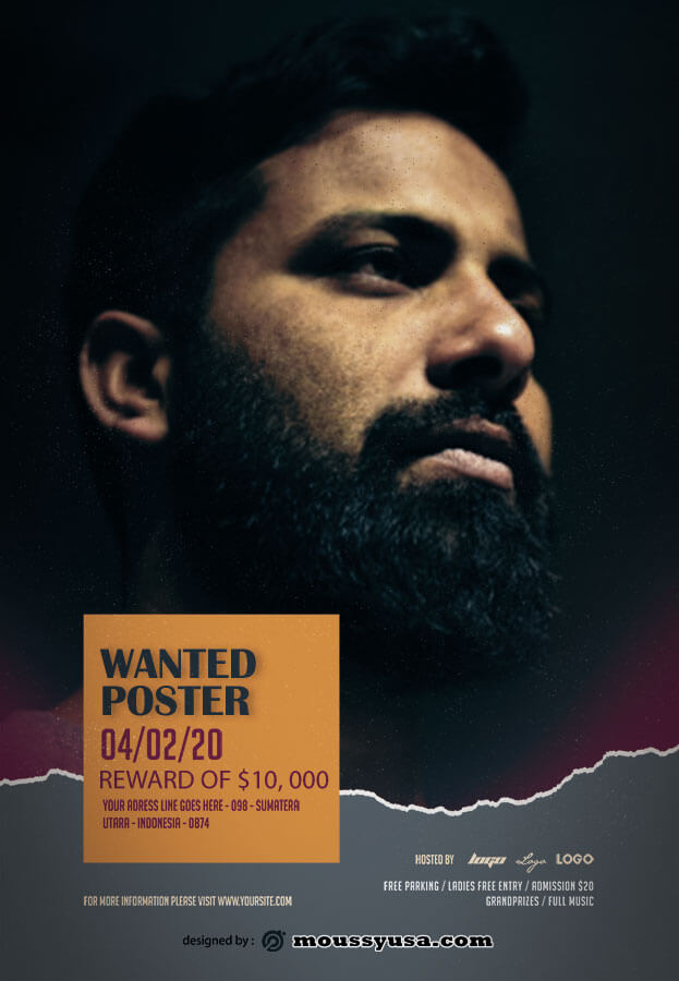 wanted poster template for photoshop