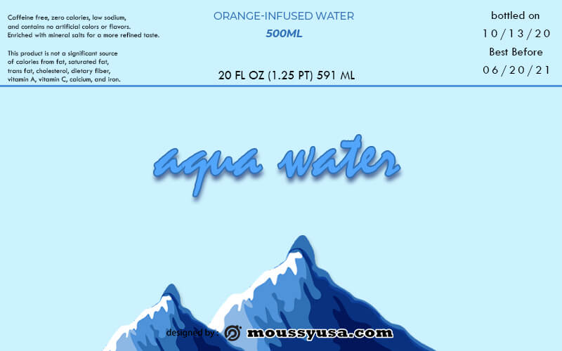 water bottle label in photoshop free download