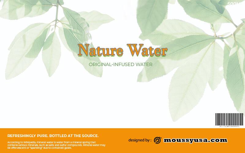 water bottle label in photoshop