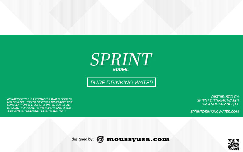 water bottle label template for photoshop