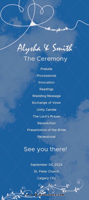 wedding ceremony program free psd template
