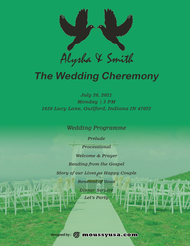 wedding ceremony program in photoshop free download