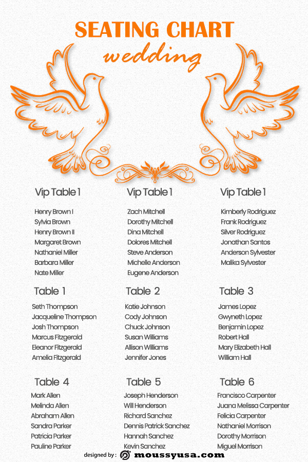 wedding seating chart free download psd