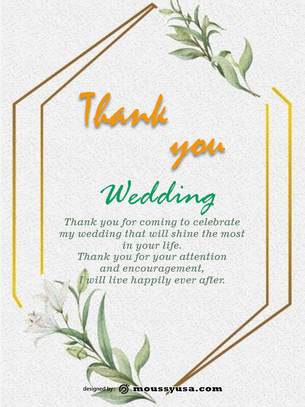 wedding thank you card in photoshop free download