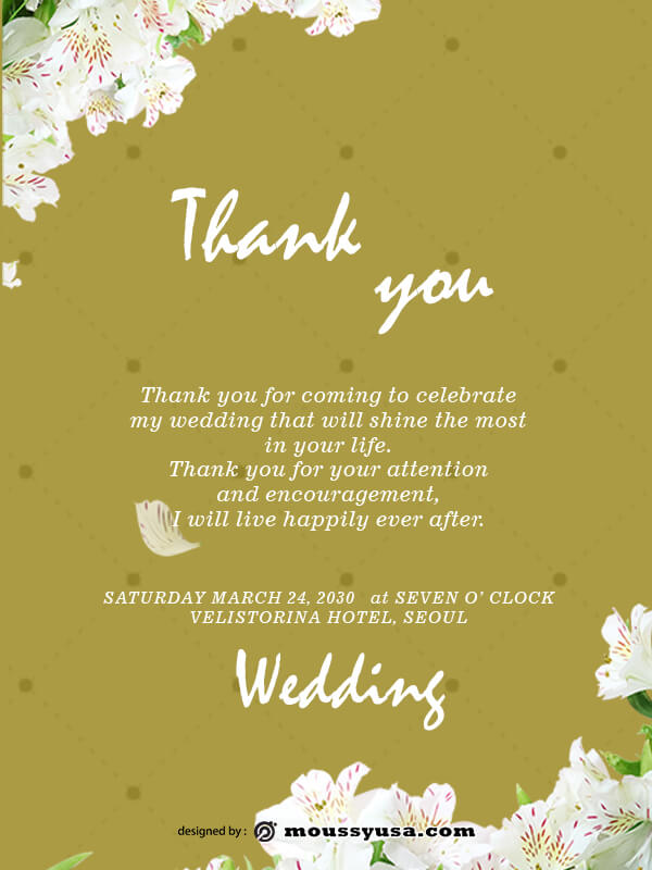 wedding thank you card psd template free