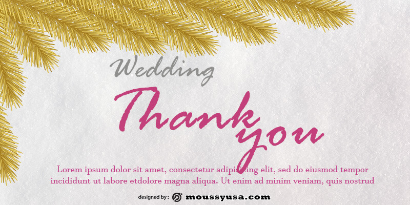 wedding thank you card template for photoshop