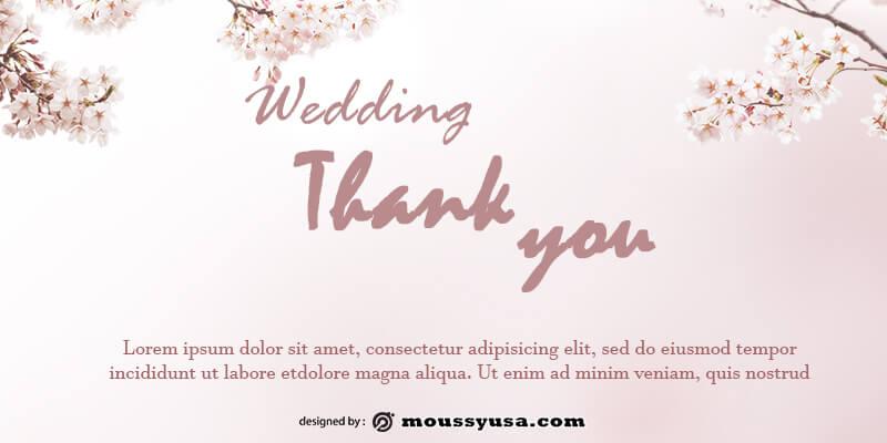 wedding thank you card template free psd