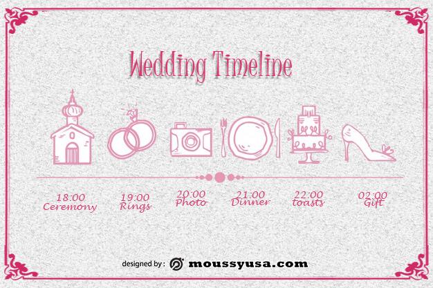 wedding timeline customizable psd design template
