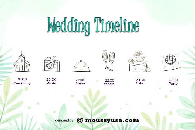 wedding timeline example psd design