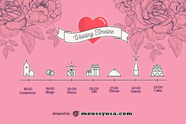 wedding timeline free download psd