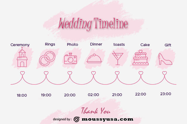 wedding timeline in photoshop free download