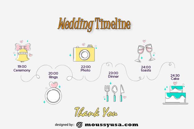 wedding timeline in psd design