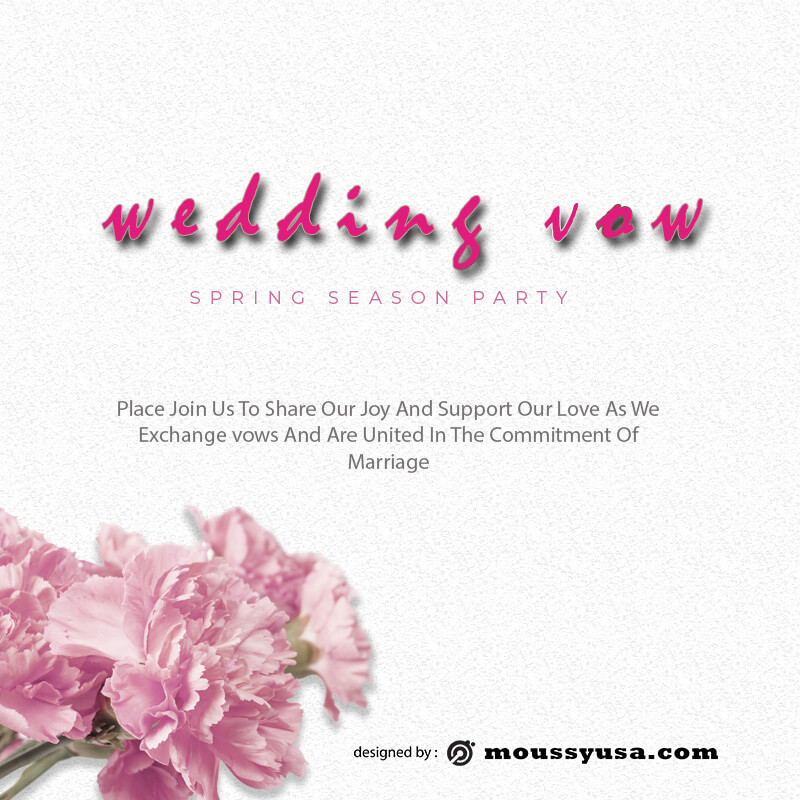 wedding vow example psd design