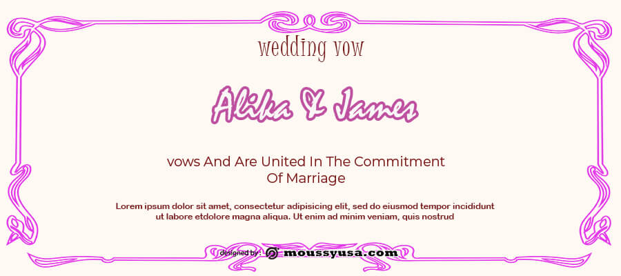 wedding vow free download psd