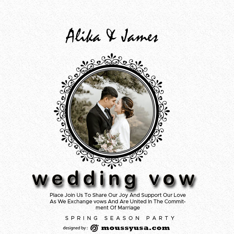 wedding vow in photoshop free download