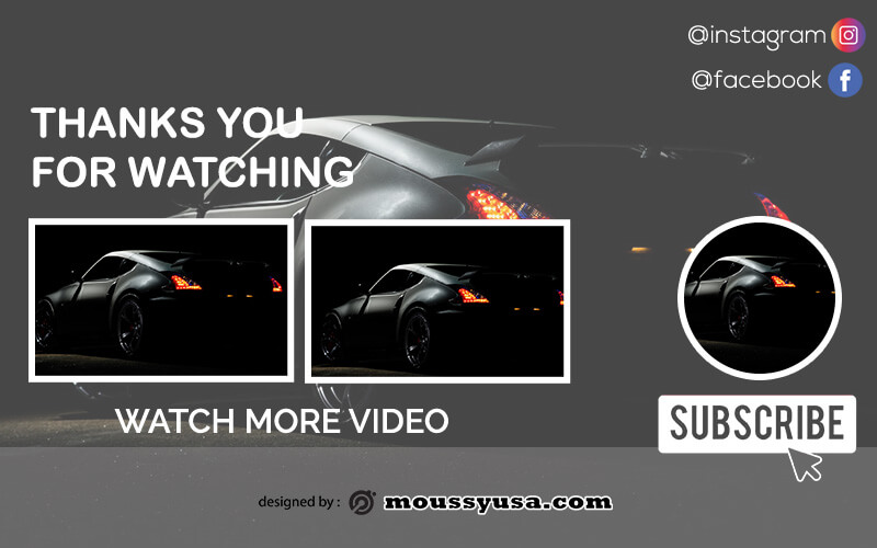 youtube end screen free download psd