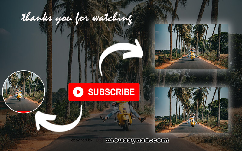 youtube end screen template free psd