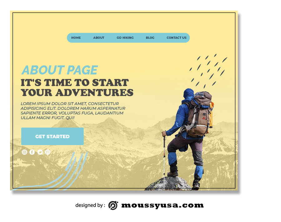 about page customizable psd design template