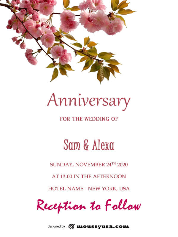anniversary Card free download psd