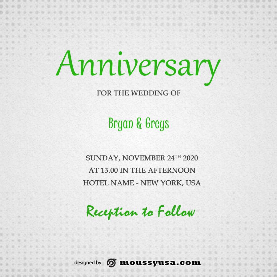 anniversary Card in psd design