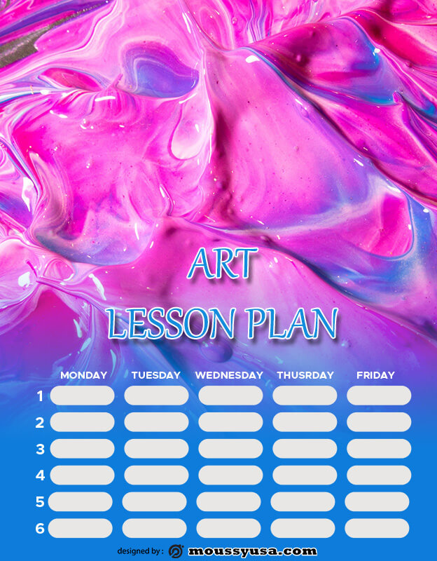 art lesson plan customizable psd design template