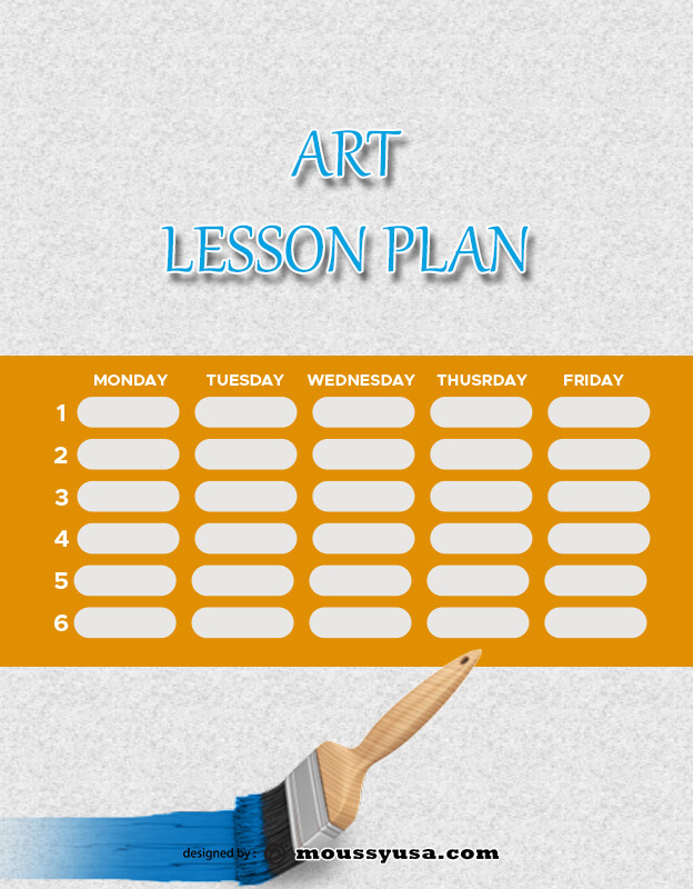 art lesson plan example psd design