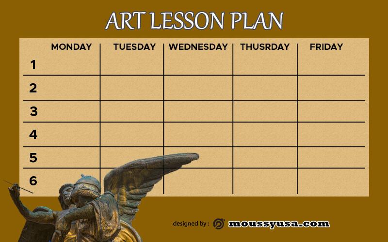 art lesson plan free download psd