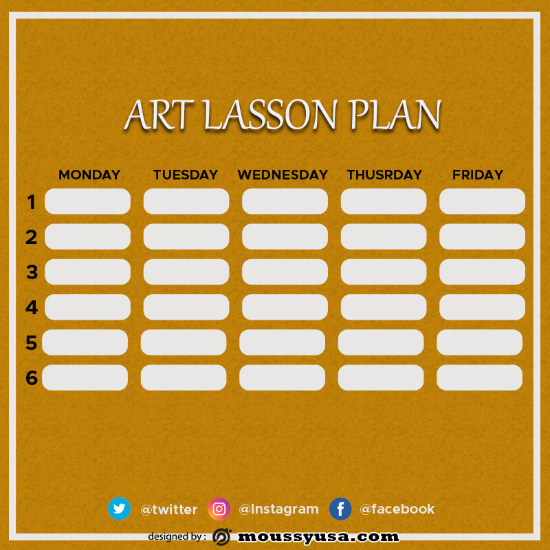 art lesson plan free psd template