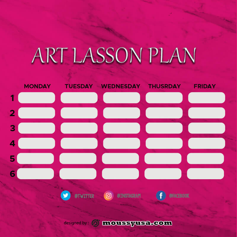 art lesson plan in photoshop