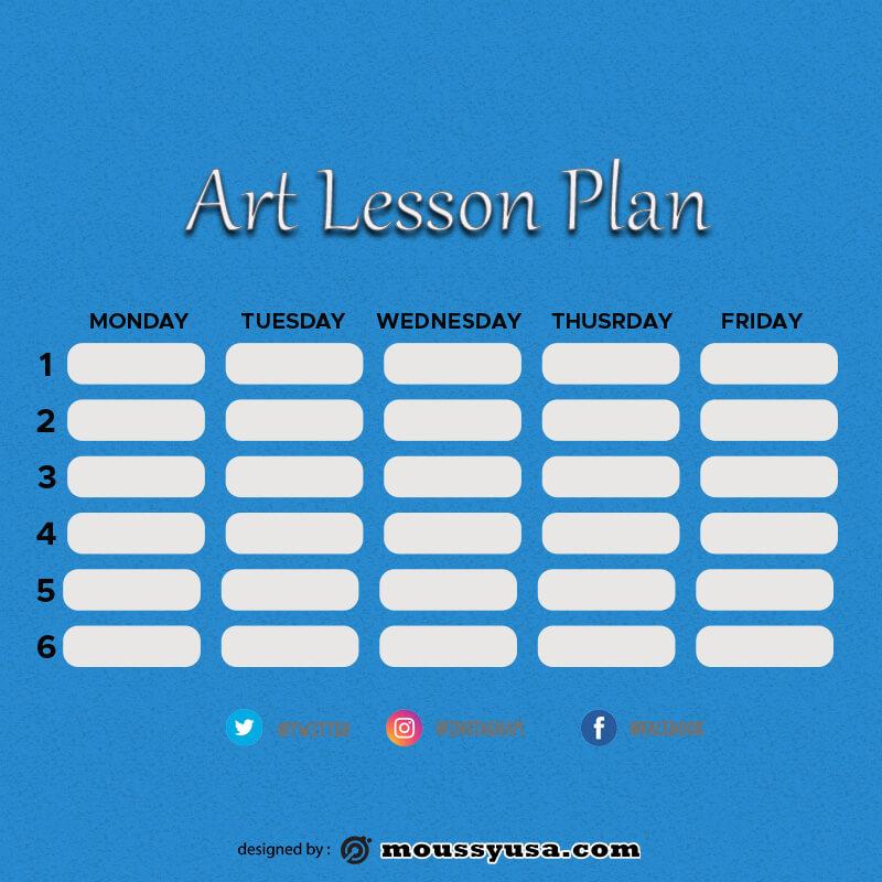 art lesson plan in psd design