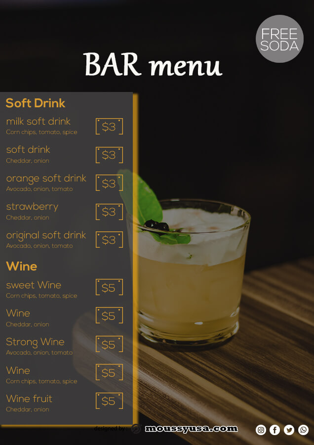 bar menu in photoshop free download