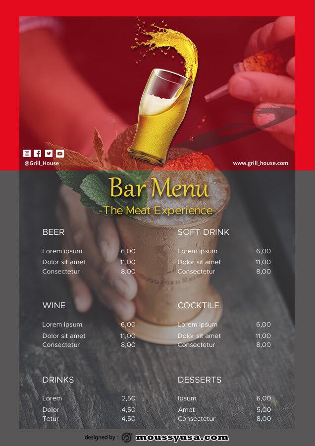 bar menu in photoshop