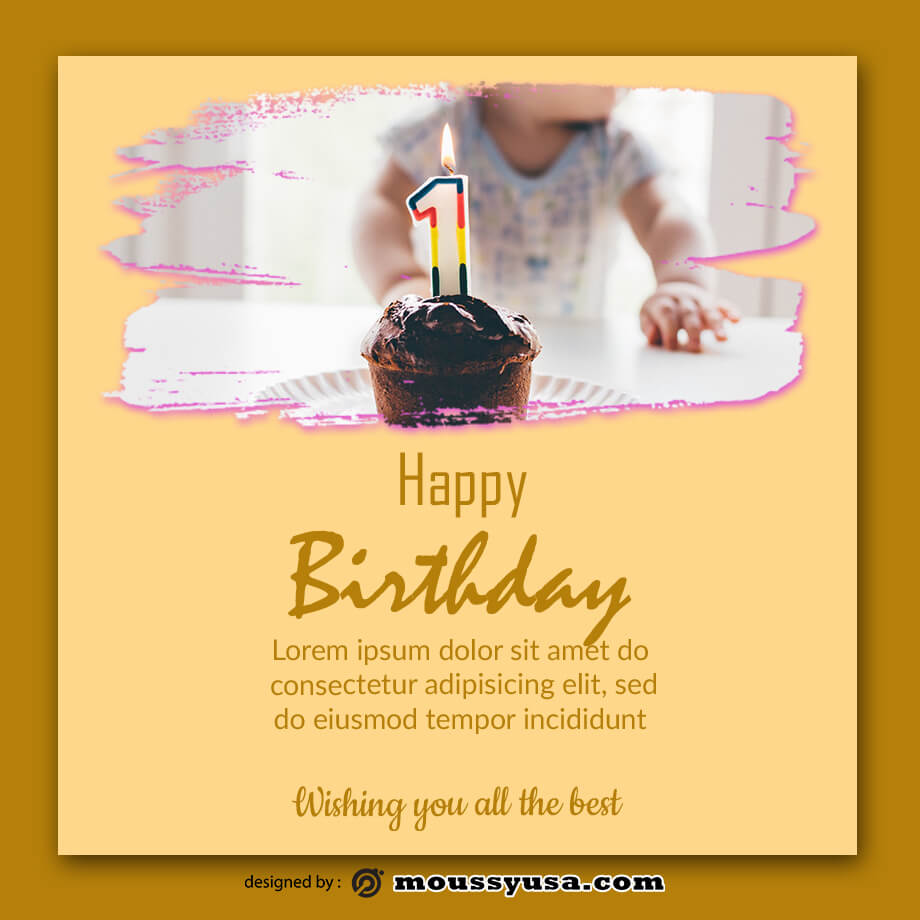 birthday card free download psd