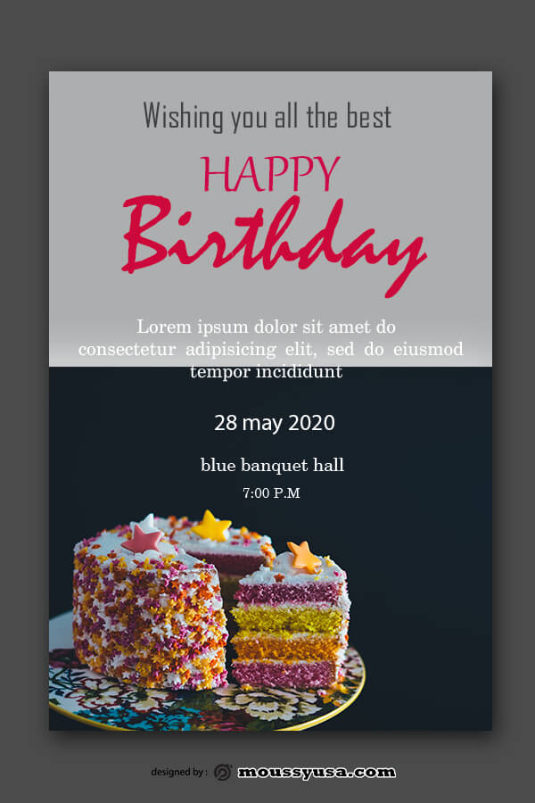 birthday card in photoshop free download