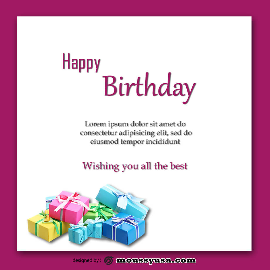birthday card in photoshop
