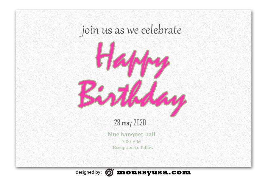 birthday card psd template free