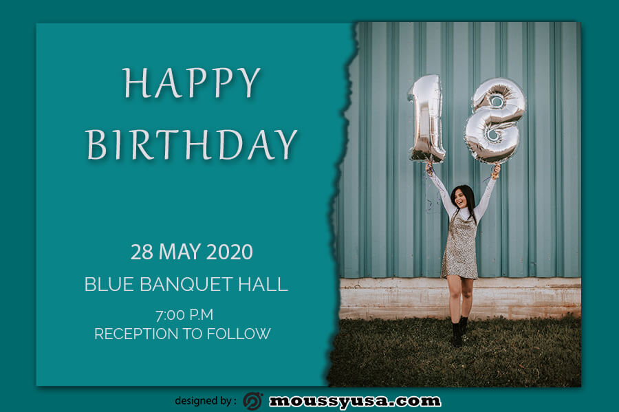 birthday card template for photoshop