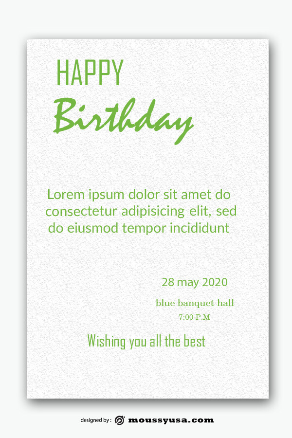 birthday card template free psd