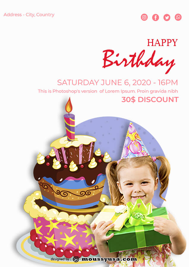 birthday flyer free download psd