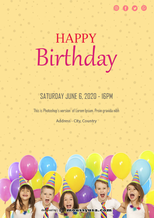 birthday flyer in photoshop free download