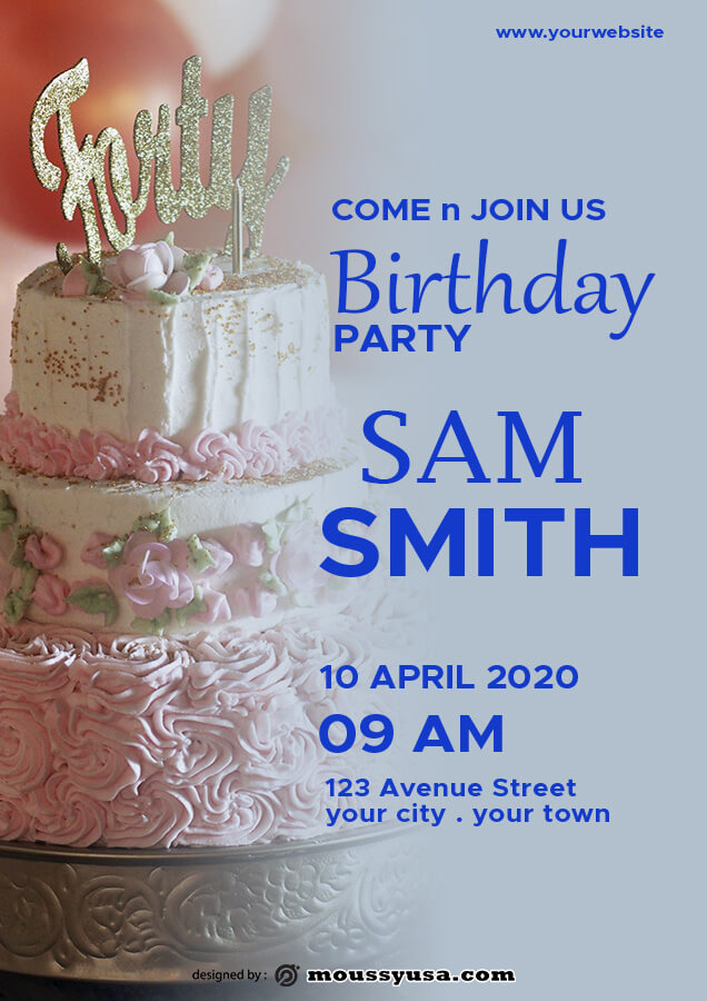 birthday flyer in photoshop