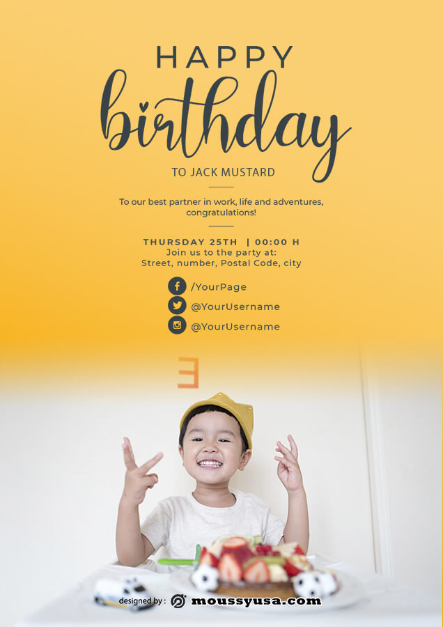 birthday flyer template for photoshop