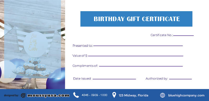 birthday gift certificate free download psd