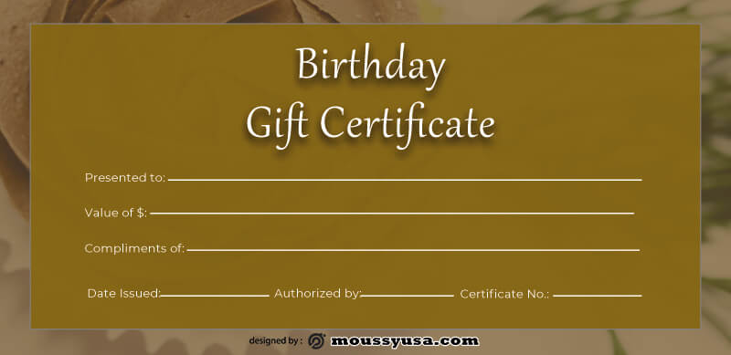 birthday gift certificate in photoshop free download