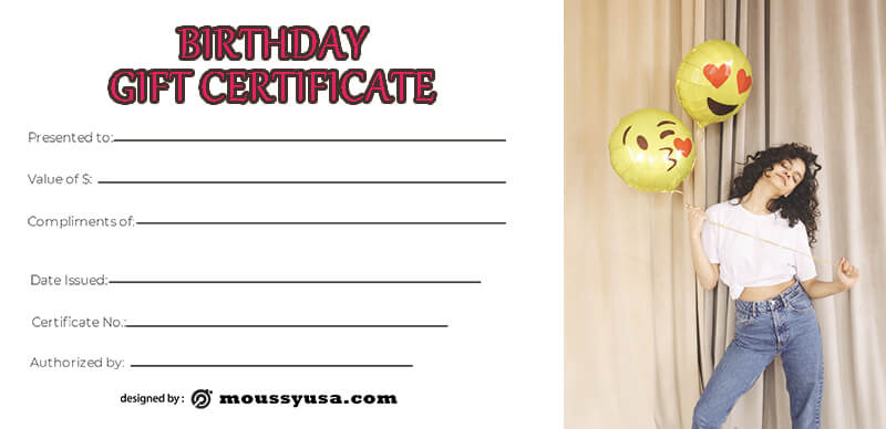 birthday gift certificate in photoshop
