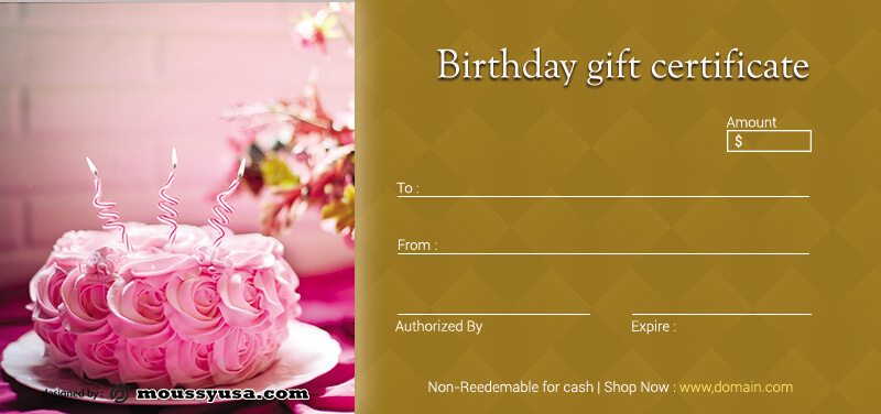 birthday gift certificate psd template free