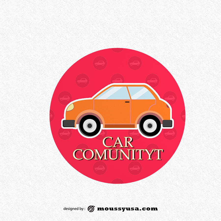 bumper sticker template example psd design